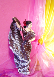 шоколад, танцы, шоколадная фигура, фламенко, веер, девушка